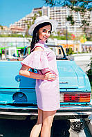 Легкое платье миди розовый