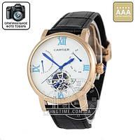 Часы Cartier Ronde Solo De Cartier black/gold/white AAA