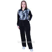 Спортивный костюм женский велюровый с удлиненной курткой 54