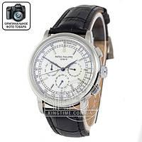 Часы Patek Philippe Geneve 0002 black/silver/white