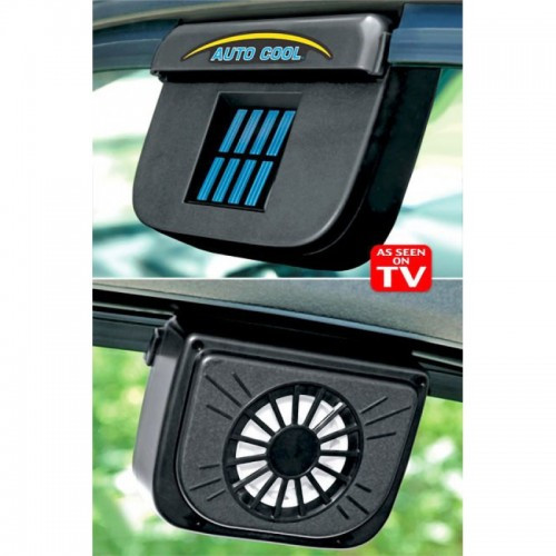 Автомобильный вентилятор (вытяжка) AUTO COOL на солнечной батарее, автовентилятор