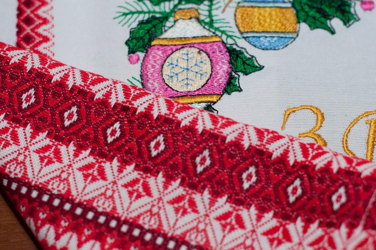 Рождественский рушник 016