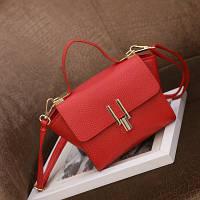 Маленькая женская сумка в стиле Celine Mini красная