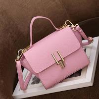 Маленькая женская сумка в стиле Celine Mini розовая