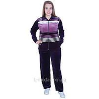 Спортивный костюм женский велюровый сполосками