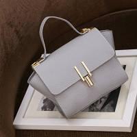 Маленькая женская сумка в стиле Celine Mini серая