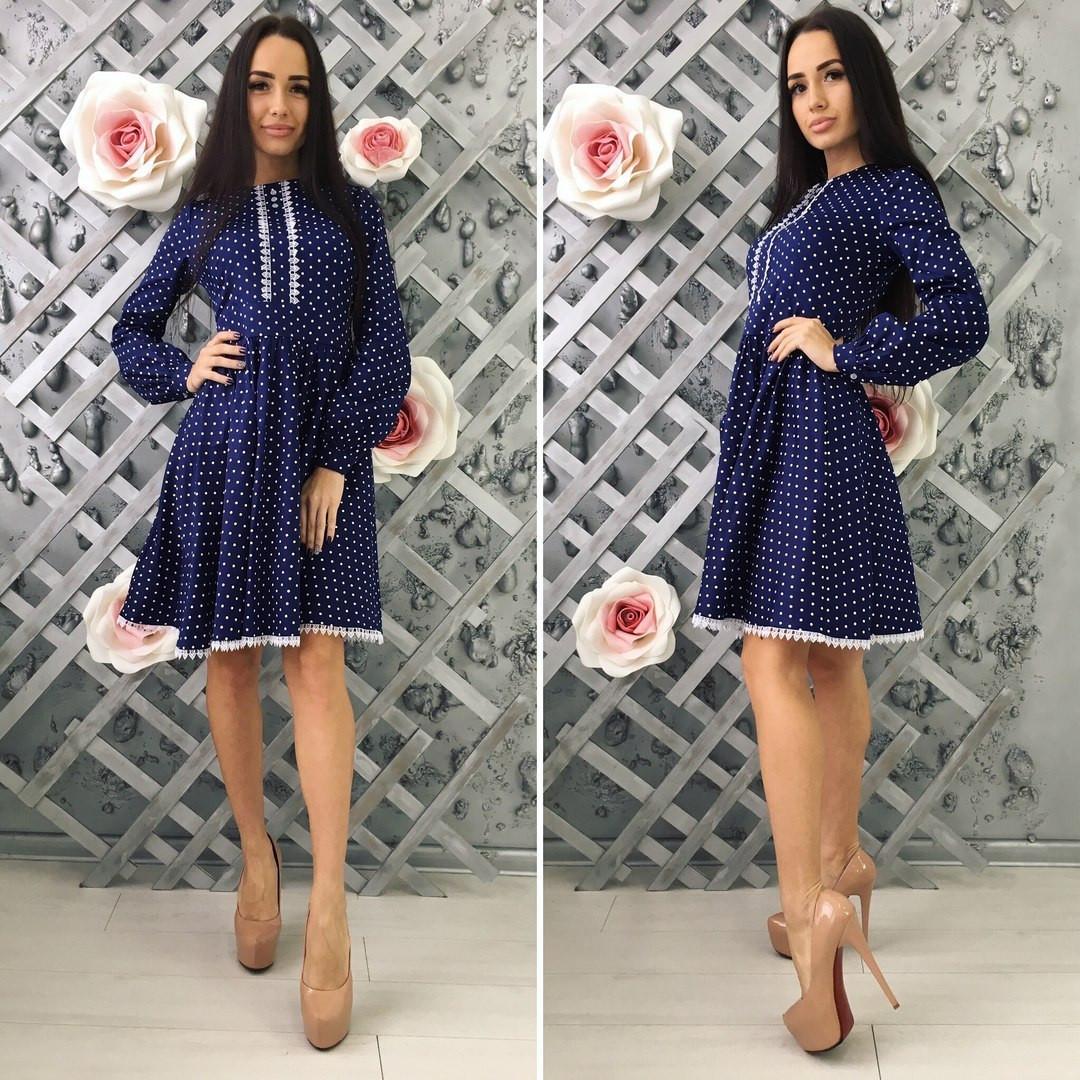 48f136e292afc4a Джинсовое платье с кружевом - All You Need - прямой поставщик женской  одежды оптом и в