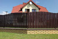 Забор из штакетника ГОРКОЙ (ДУГА)