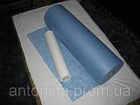 """Простыни в рулонах ТМ """"Антонина""""  0,6 х 200м, цв.голубой, спанбонд (23)"""