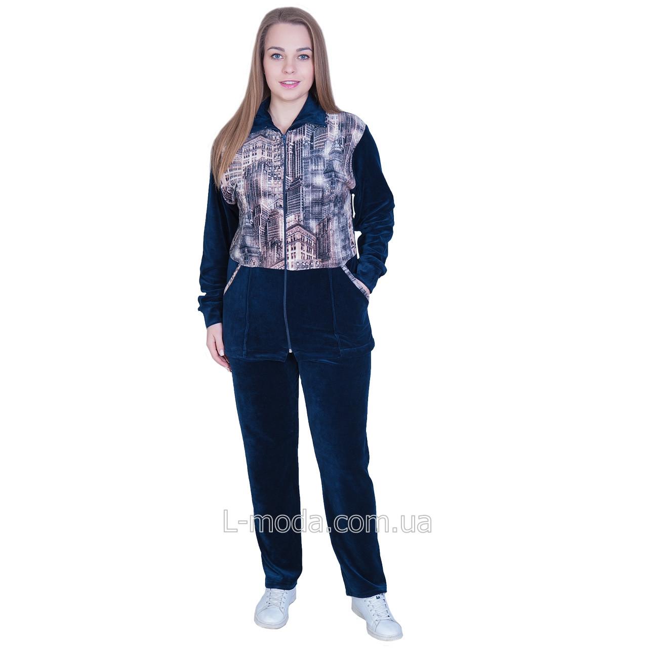 Спортивный костюм женский велюровый принт