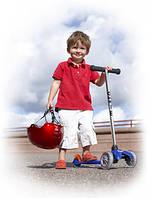 Детский самокат-полезный вид транспорта