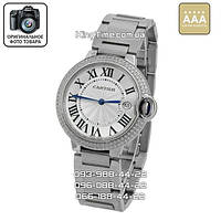 Часы Cartier 3883 Ballon Bleu de Date Crystals AAA