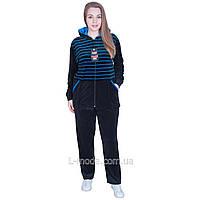 Спортивный костюм женский велюровый скапюшоном
