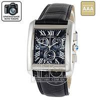 Часы Cartier 3903 silver/black AAA