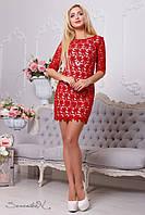 Стильное женское красное платье 2116 Seventeen 42-48 размеры