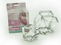 Набор из нержавеющей стали двух форм для вырезания печенья 6-в-1 Fissman (AY-7424.BW)