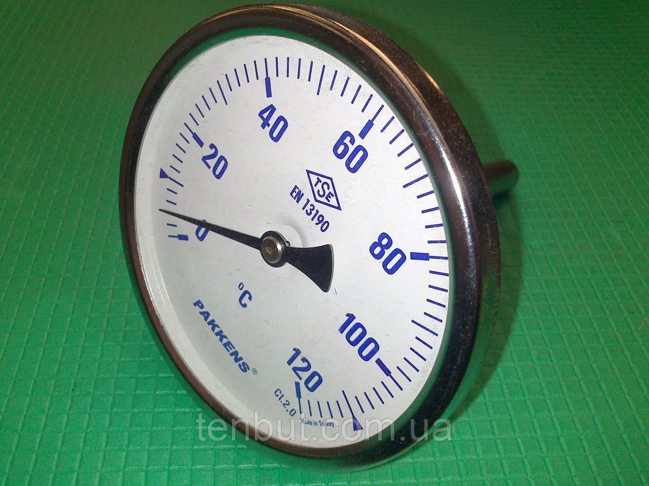 Термометр трубчатый PAKKENS Ø-100 мм./длина-100 мм./ 0-120°C град.