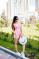 Летний костюм майка и шорты ментоловый и персиковый