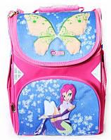 """Рюкзак """"Fairy Club 1"""",2 від.,34*25*13см,300D PL,син.- рож.,9506, CLASS"""