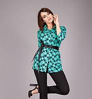 Удлиненная блуза из штапеля 1113