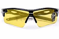 Очки спортивные Robesbon желтые тактические антифары велосипедные спортивные велоочки