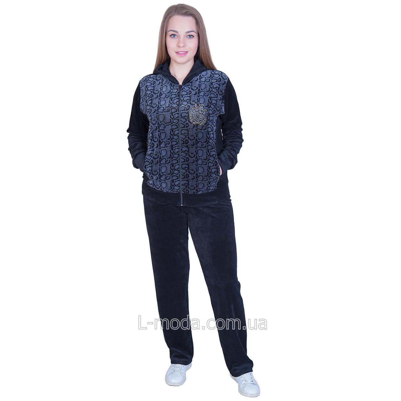 Спортивный костюм женский велюровый - L MODA магазин женской одежды 38d49ee1a6559