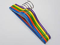 Плечики вешалки тремпеля деревянные микс цветов, длина 36 см, в упаковке 5 штук