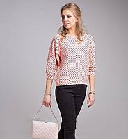 Яркая блуза из трикотажа 1150