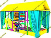 Детский лабиринт с батутом джамп для улицы, фото 1