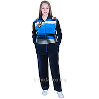 Спортивный костюм женский велюровый широкая полоса, фото 1