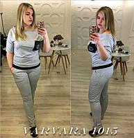 Костюм спортивный ботал, брюки+футболка филип плин,ткань: турецкая двухнитка,  цвет-чёрный, меланж  размеры 48-50, 50-52