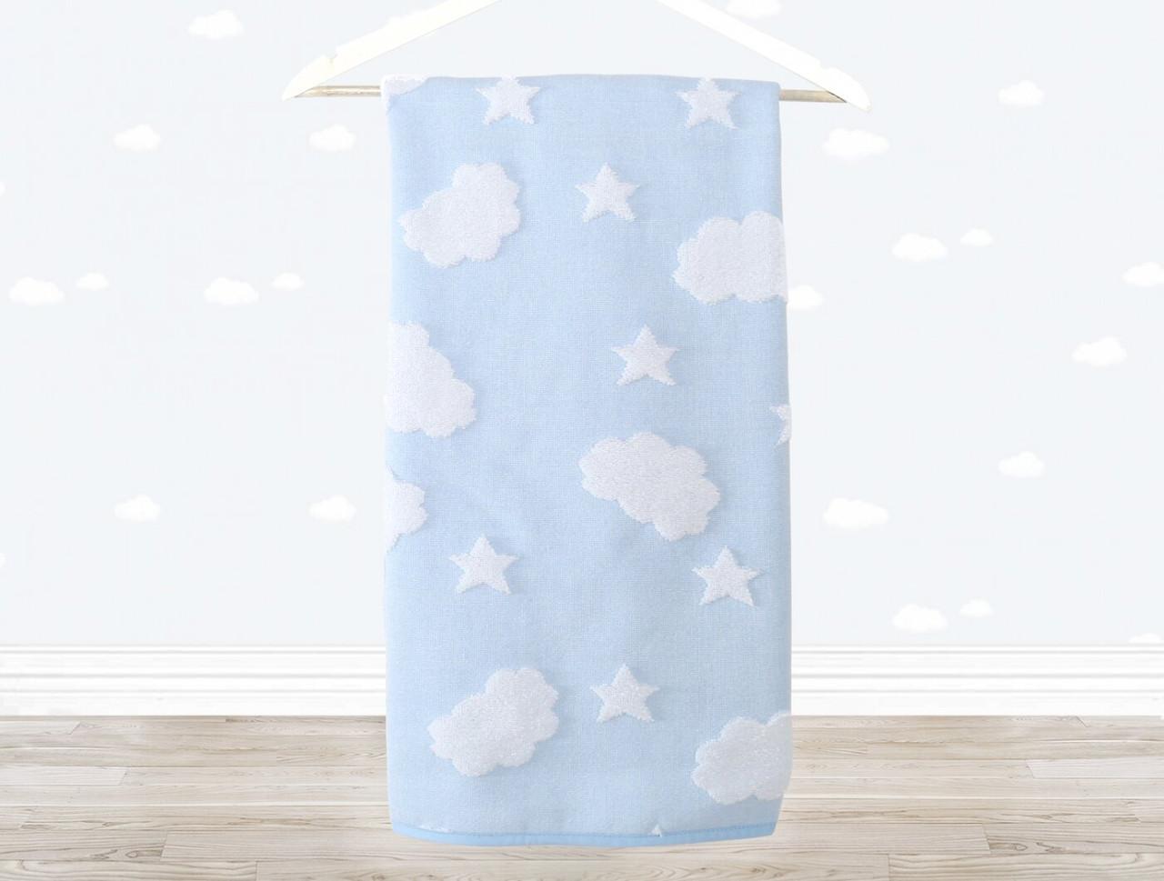 Полотенце детское Cloud 70х120 голубое Irya
