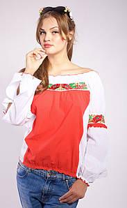 Женская блуза вышиванка Маки
