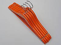 Плечики вешалки тремпеля деревянные оранжевого цвета, длина 36 см, в упаковке 5 штук