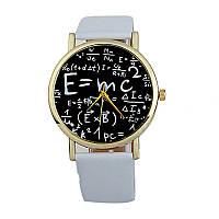 Женские часы белые с математическими символами