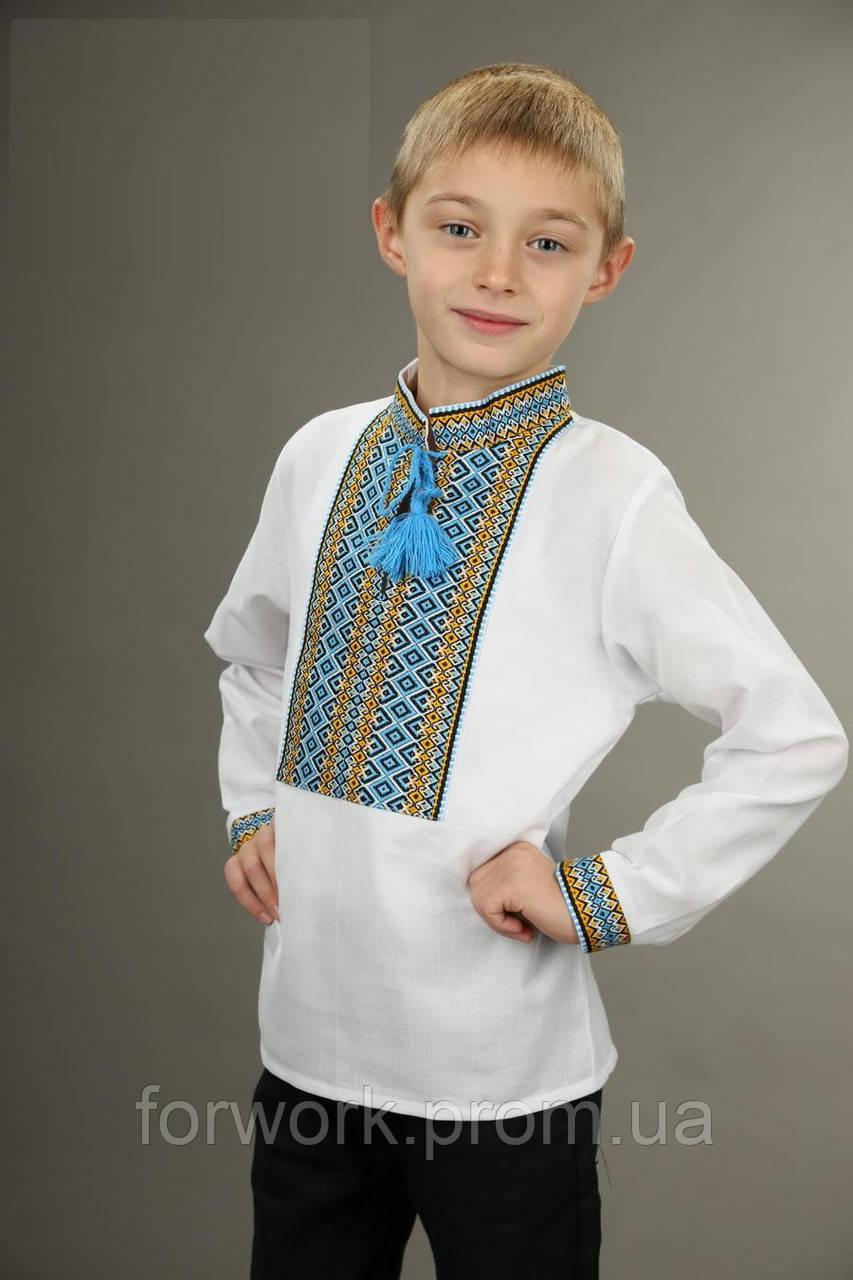 Дитяча вишита сорочка біла для хлопчика 8538c3ad580a6