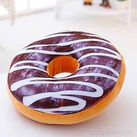 """3D подушка  """"Пончик  с шоколадом и сливочным кремом"""" Pillow"""