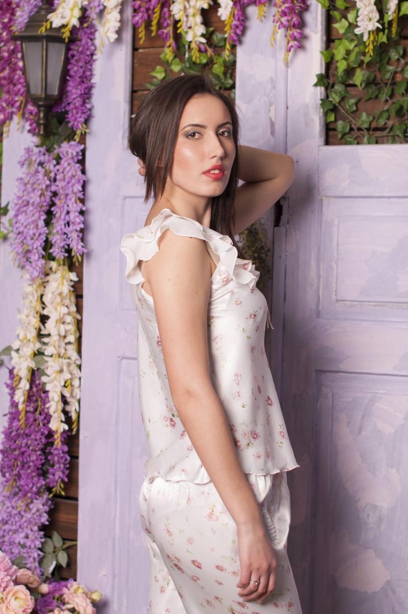 Романтичная комплект из нежного сатина. майка+бриджи 42.44.46 - Интернет-магазин одежды Top2shoP в Хмельницком