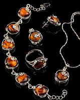 Набор украшений с натуральным камнем Тигровый глаз