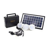 Набор ламп+зарядное устройство GDLITE GD-8006A от солнечной батареи