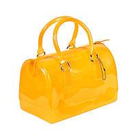 Желтая силиконовая сумка