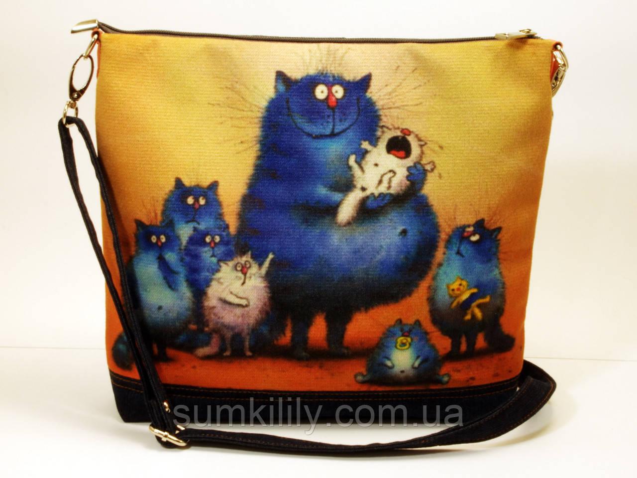 Женская сумочка Многодетная кошка