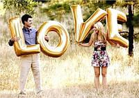 LOVE Шары буквы Фольгированные, 80 см