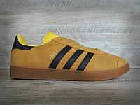 Кроссовки Adidas gazelle Yellow. Живое фото (адидас газель)