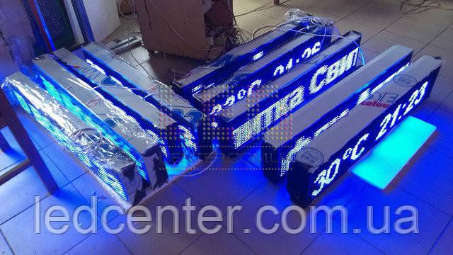 Синяя светодиодная бегущая строка P 10 для уличного использования