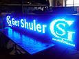 Синяя светодиодная бегущая строка P 10 для уличного использования, фото 2