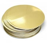 Подложка двухслойная 340 мм золото-серебро 10 штук