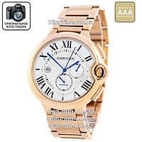 Часы Cartier Quarts 5322 gold/white AAA