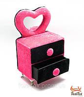 Гламурная розовая шкатулка с зеркальцем