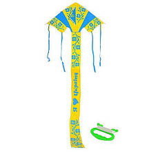 Змей воздушный M 2600 Украина,ширина92см,длина с хвост245см,нейлон,в кульке,8,5-62-2см(Ч )